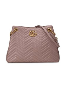 7e8463739a7 Gucci Marmont Gg Medium Matelasse Dusty Pink Shoulder Bag - Tradesy