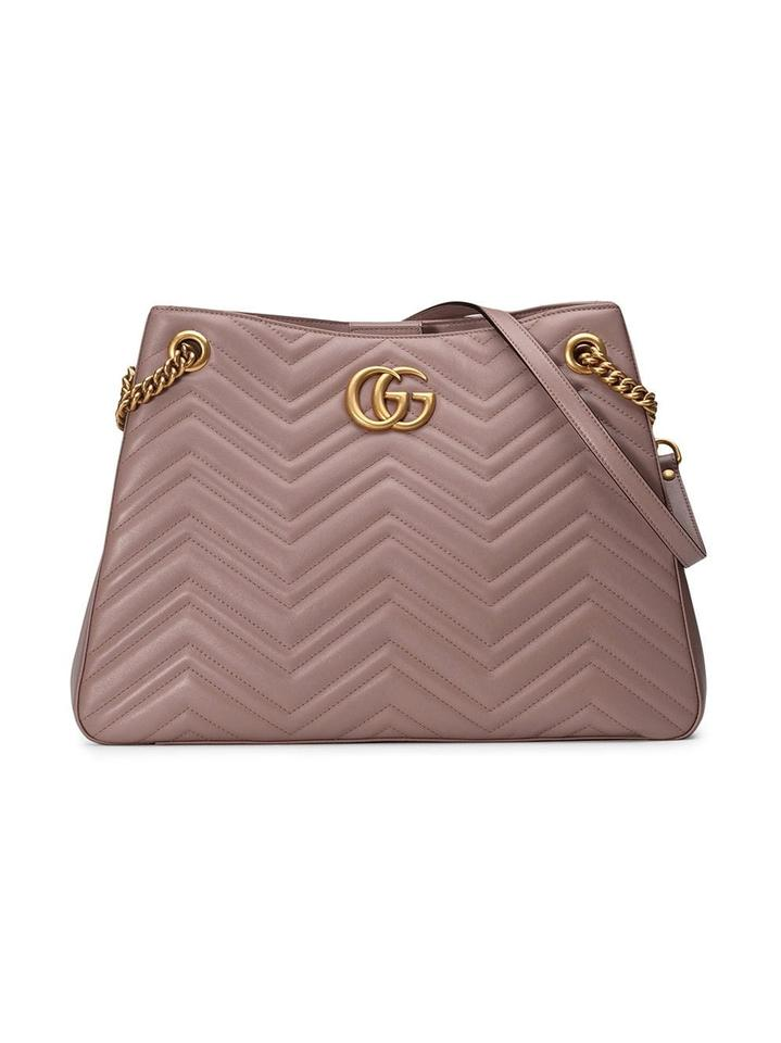 2acac0b5016 Gucci Marmont Gg Medium Matelasse Dusty Pink Shoulder Bag - Tradesy