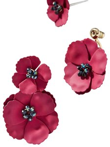 Anthropologie Anthropologie May flower front back earring