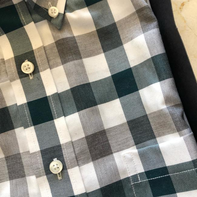 Jos. A. Bank Button Down Shirt Green and Gray Image 2