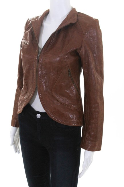 DOMA brown Leather Jacket Image 1