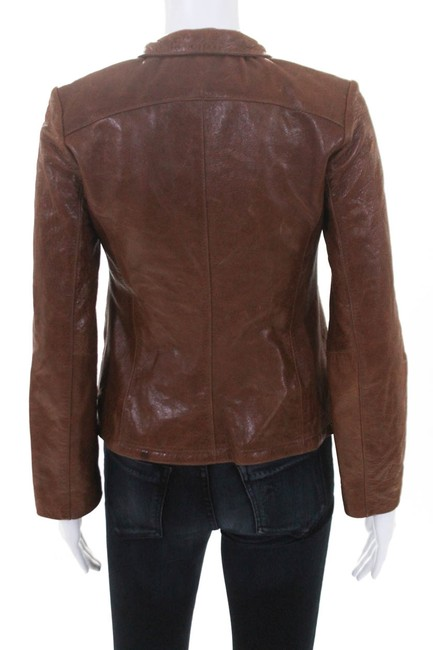 DOMA brown Leather Jacket Image 2