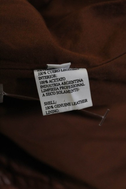 DOMA brown Leather Jacket Image 4