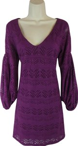 Maeve short dress purple on Tradesy