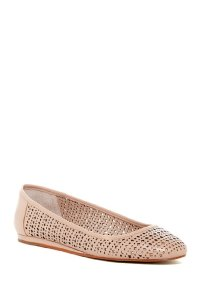 Vince Camuto Leather Perforated Nude Flats