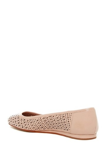 Vince Camuto Leather Perforated Nude Flats Image 1