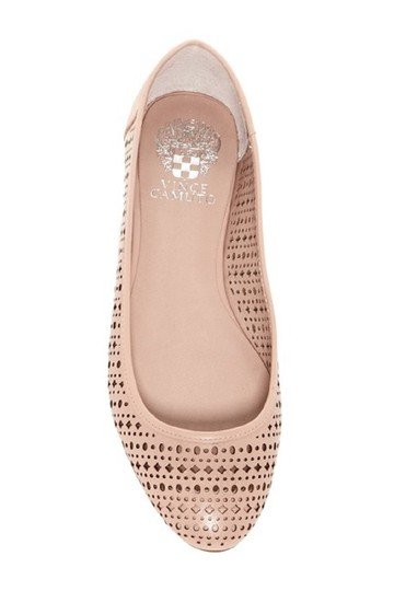 Vince Camuto Leather Perforated Nude Flats Image 5
