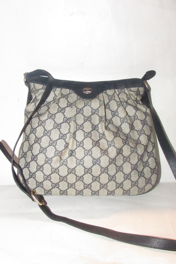 Gucci Ruched And Pleated Cross Body/Shoulder Mint Vintage Logo/Leather Classic G.a.c. Hobo Bag Image 4