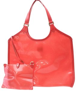 Louis Vuitton Amber Ambre Clear Naked Translucent Tote in Red