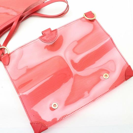 Louis Vuitton Amber Ambre Clear Naked Translucent Tote in Red Image 5