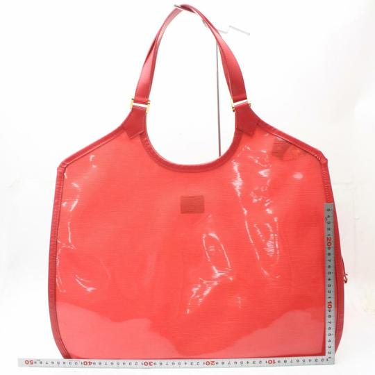 Louis Vuitton Amber Ambre Clear Naked Translucent Tote in Red Image 6