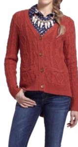 Anthropologie Hi-lo Cable Knit Sweater Cardigan