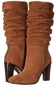Donald J. Pliner Suede Leather Slouch Brown Boots