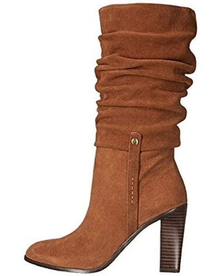 Donald J. Pliner Suede Leather Slouch Brown Boots Image 1
