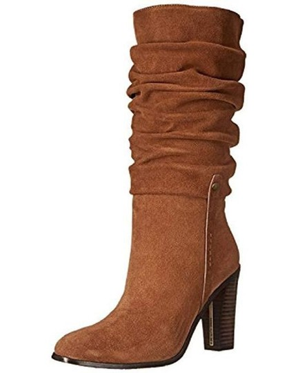 Donald J. Pliner Suede Leather Slouch Brown Boots Image 2