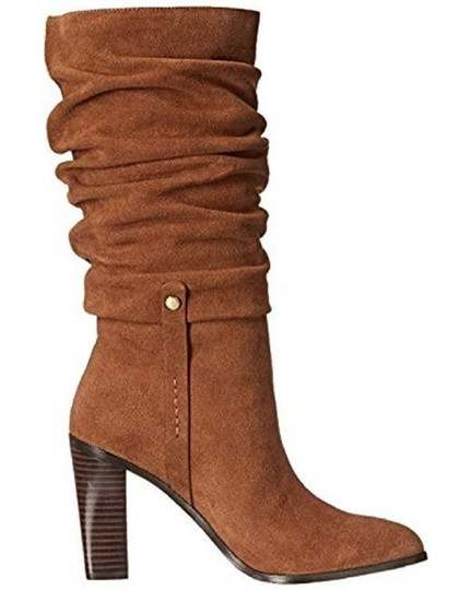 Donald J. Pliner Suede Leather Slouch Brown Boots Image 3