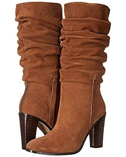 Donald J. Pliner Suede Leather Slouch Brown Boots Image 5