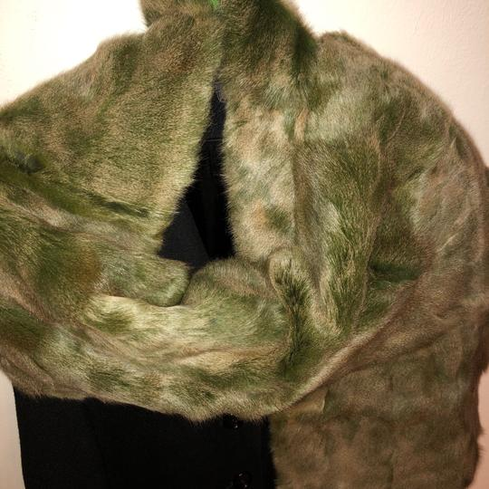Quartier 206 Berlin Russian Squirrel Fur Scarf in Brown and Green Image 1