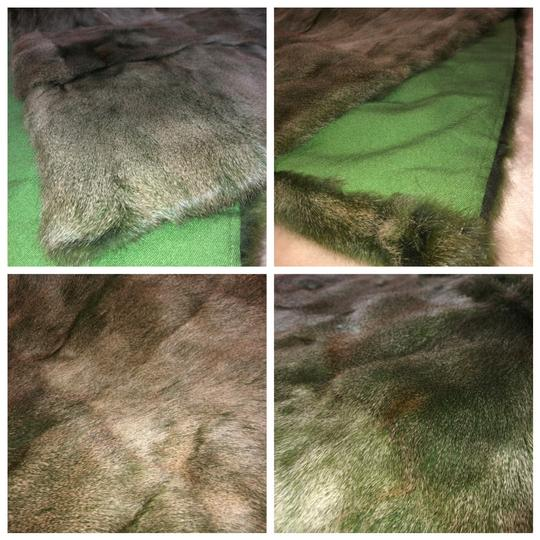 Quartier 206 Berlin Russian Squirrel Fur Scarf in Brown and Green Image 10