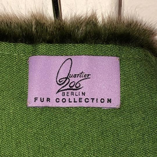 Quartier 206 Berlin Russian Squirrel Fur Scarf in Brown and Green Image 7