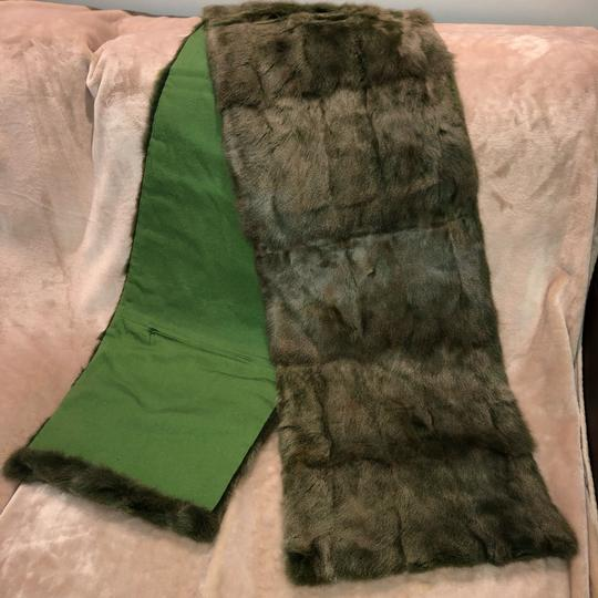 Quartier 206 Berlin Russian Squirrel Fur Scarf in Brown and Green Image 8