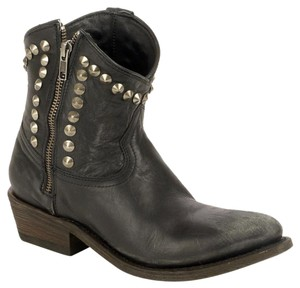 Ash Cowboy Studded Leather black Boots