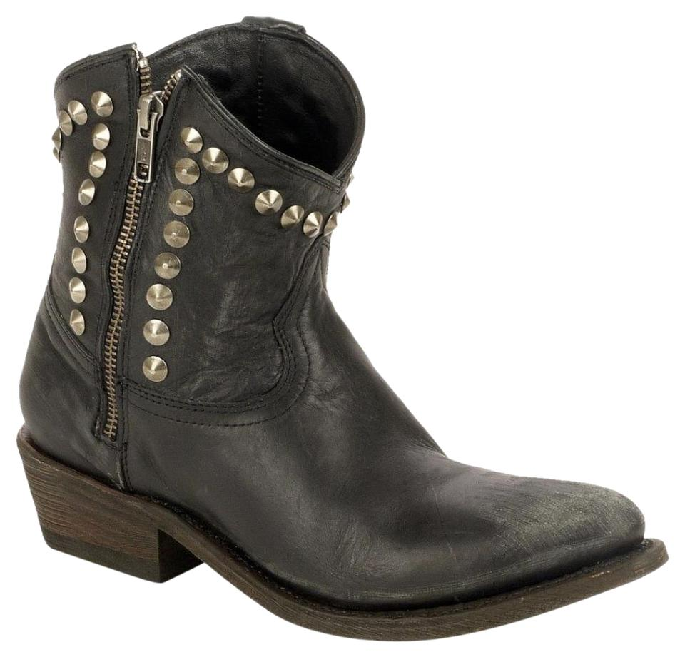 bc7fef9f6c0 Ash Black Crosby Studded Western Ankle Boots/Booties Size EU 39 (Approx. US  9) Regular (M, B) 59% off retail