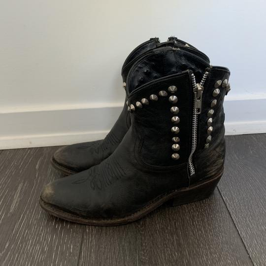 Ash Cowboy Studded Leather black Boots Image 3