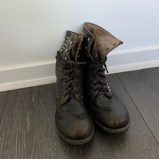 Ash Combat Studded Laceup brown Boots Image 3