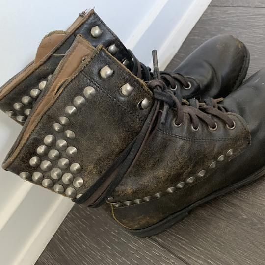 Ash Combat Studded Laceup brown Boots Image 5