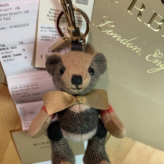 Burberry BURBERRY Thomas Bear Charm in Vintage Check Cashmere Image 1