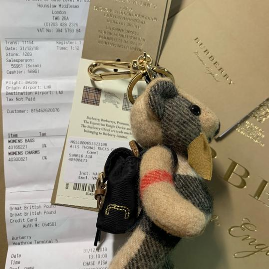 Burberry BURBERRY Thomas Bear Charm in Vintage Check Cashmere Image 6