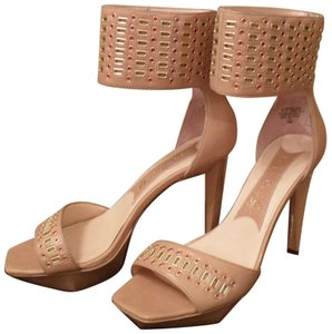 Boutique 9 Leather Tan Beige Sandals