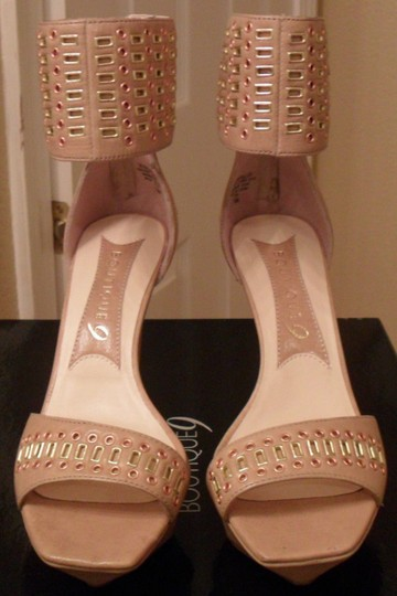 Boutique 9 Leather Tan Beige Sandals Image 3