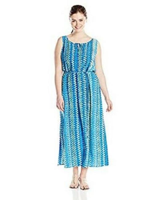 Blues & Cream Maxi Dress by Vince Camuto Image 3