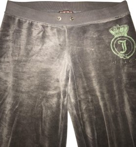 Juicy Couture Velour Comfortable Athletic Pants Grey