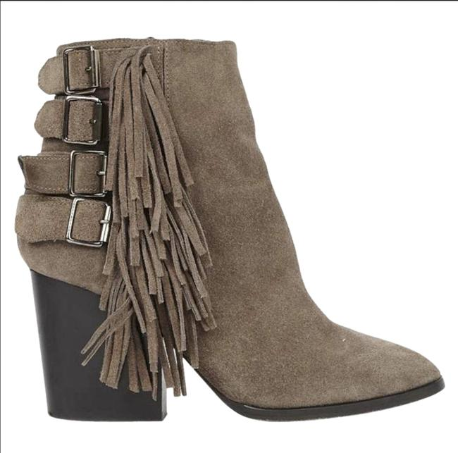Item - Taupe Fringe Heeled Ankle Boots/Booties Size EU 39 (Approx. US 9) Regular (M, B)