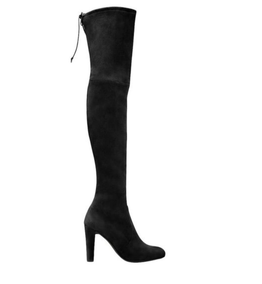 a42aea69d09 Stuart Weitzman Black Highland Over The Knee Suede Boots Booties. Size  EU  38.5 (Approx. US 8.5) Regular (M ...