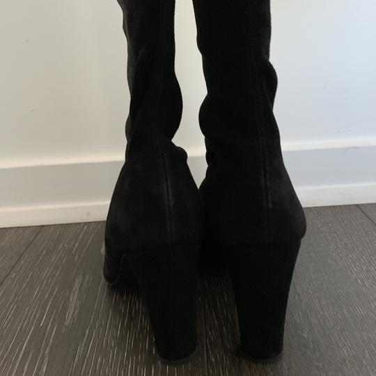 Stuart Weitzman Over The Knee Highland Suede black Boots Image 2