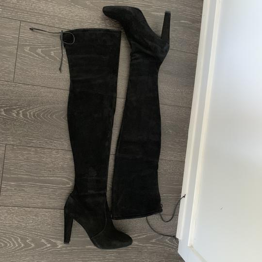 Stuart Weitzman Over The Knee Highland Suede black Boots Image 6