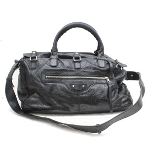 Balenciaga Twiggy First Town City Satchel in Black