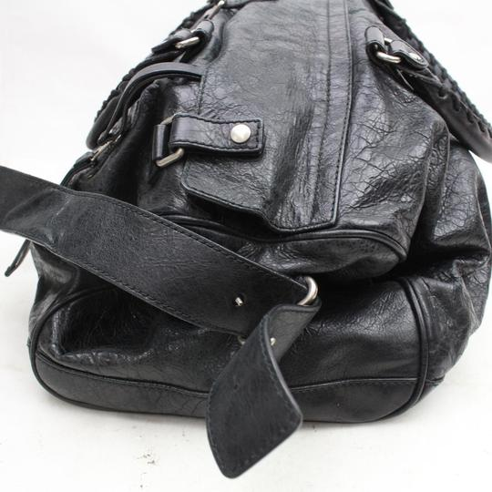 Balenciaga Twiggy First Town City Satchel in Black Image 7