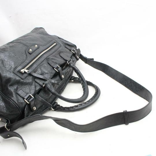 Balenciaga Twiggy First Town City Satchel in Black Image 9
