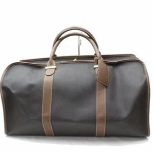 Dunhill Boston Duffle Keepall Bandouliere Gym Black/Brown Travel Bag