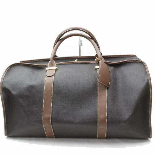 Dunhill Boston Duffle Keepall Bandouliere Gym Black/Brown Travel Bag Image 0
