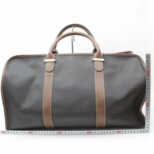 Dunhill Boston Duffle Keepall Bandouliere Gym Black/Brown Travel Bag Image 4