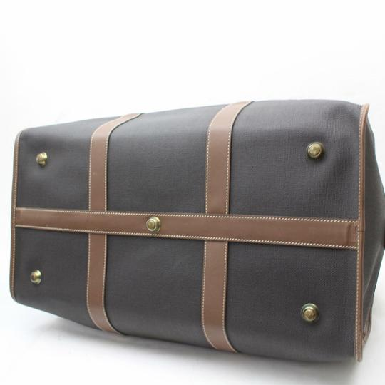 Dunhill Boston Duffle Keepall Bandouliere Gym Black/Brown Travel Bag Image 6