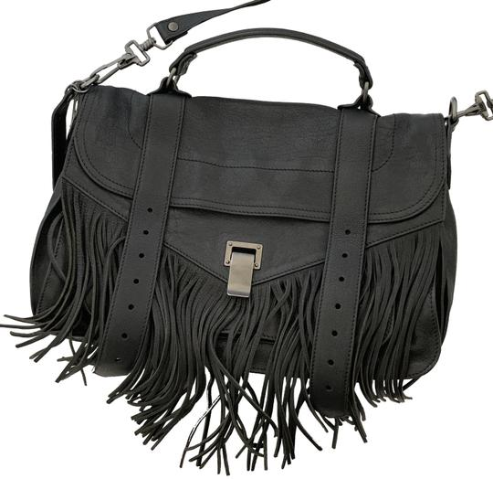 Proenza Schouler Ps1 Ps 1 Fringe Satchel in black Image 0