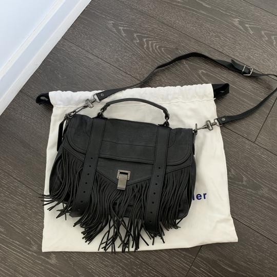 Proenza Schouler Ps1 Ps 1 Fringe Satchel in black Image 1
