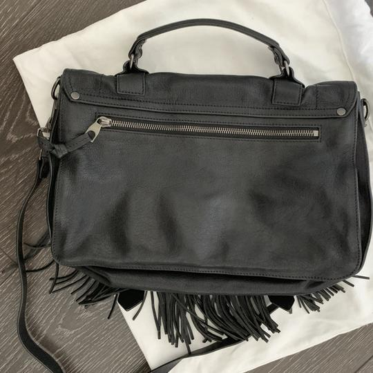 Proenza Schouler Ps1 Ps 1 Fringe Satchel in black Image 2